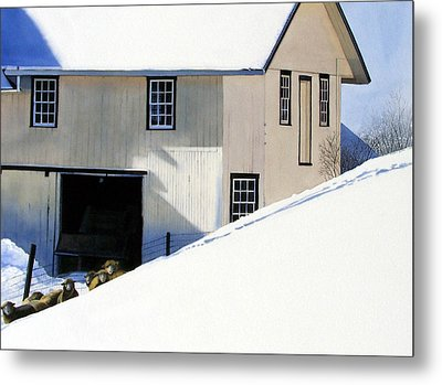 Fenced In Metal Print by Denny Bond
