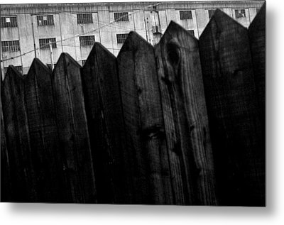 Fenced In Or Out Metal Print by Jez C Self