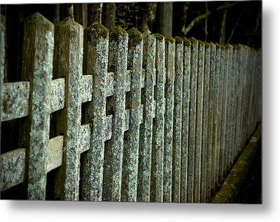 Fenced In Metal Print by Sebastian Musial