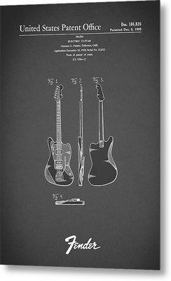 Fender Electric Guitar 1959 Metal Print by Mark Rogan