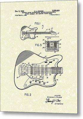 Fender Guitar 1966 Patent Art Metal Print