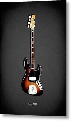 Fender Jazzbass 74 Metal Print by Mark Rogan