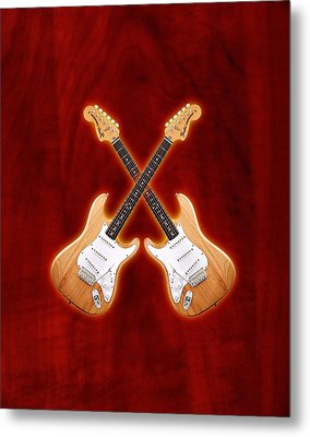 Fender Stratocaster Natural Color Metal Print by Doron Mafdoos