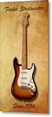 Fender Stratocaster Since 1954 Metal Print by WB Johnston