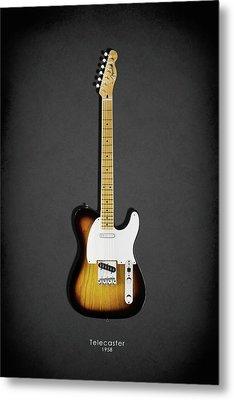 Fender Telecaster 58 Metal Print by Mark Rogan
