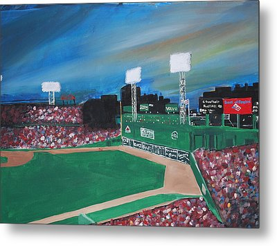 Fenway Night Metal Print