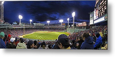 Fenway Night Metal Print by Rick Berk