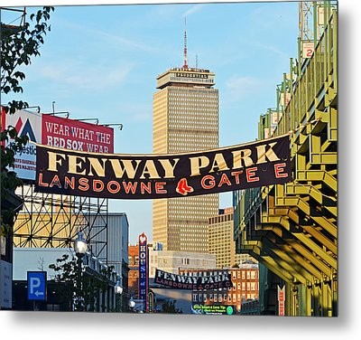 Fenway Park Banners Boston Ma Metal Print by Toby McGuire