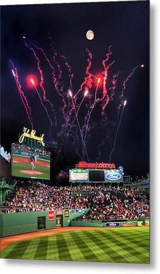 Fenway Park Fireworks - Boston Metal Print by Joann Vitali