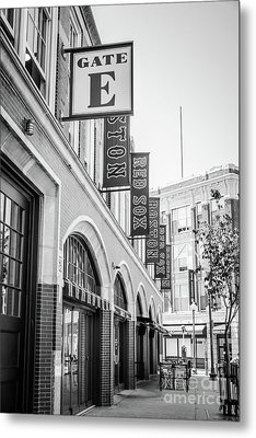 Fenway Park Gate E Entrance Black And White Photo Metal Print by Paul Velgos