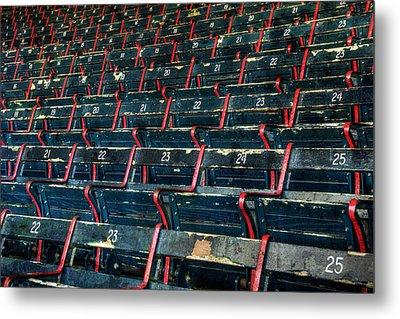 Fenway Park Grandstand Seats Metal Print by Joann Vitali