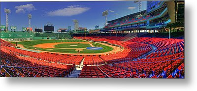 Fenway Park Interior Panoramic - Boston Metal Print