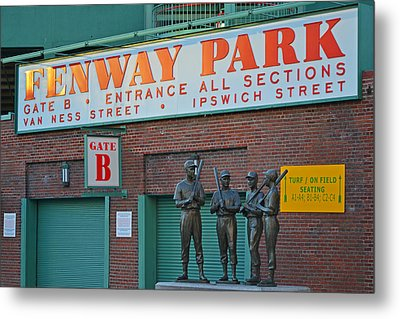 Fenway Park Statues Boston, Ma Metal Print by Toby McGuire