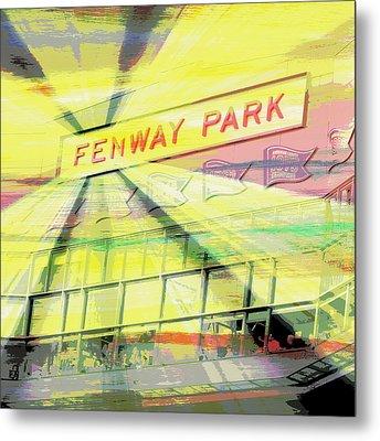 Fenway Park V2 Metal Print by Brandi Fitzgerald