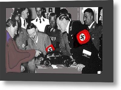 Ferdinand Porsche Showing The Prototype Of The Vw Beetle To Adolf Hitler 1935-2015 Metal Print