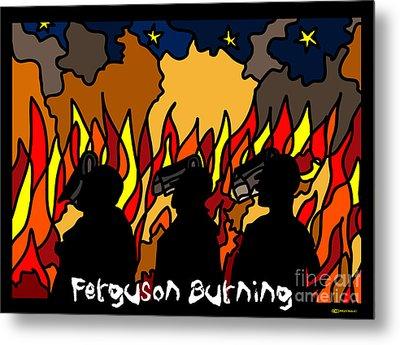 Ferguson Burning Iv Metal Print