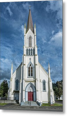 Metal Print featuring the photograph Ferndale Catholic Church by Greg Nyquist