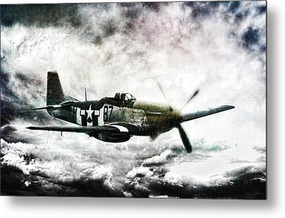 Ferocious Textured Metal Print by Peter Chilelli
