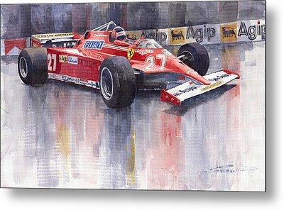 Ferrari 126c 1981 Monte Carlo Gp Gilles Villeneuve Metal Print by Yuriy  Shevchuk