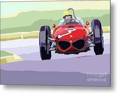 Ferrari 156 Dino 1962 Dutch Gp Metal Print by Yuriy  Shevchuk