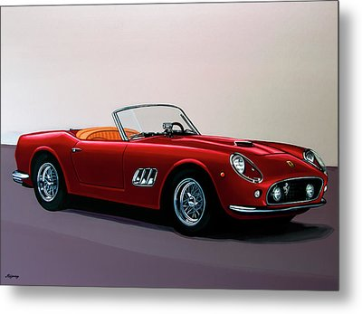 Ferrari 250 Gt California Spyder 1957 Painting Metal Print by Paul Meijering