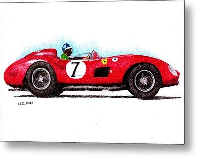 Ferrari 335s Mike Hawthorn 1957 Metal Print by Ugo Capeto