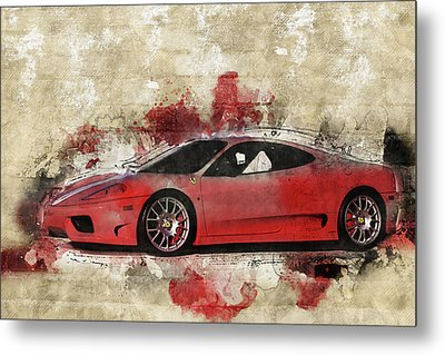 Metal Print featuring the photograph Ferrari 430  by Joel Witmeyer