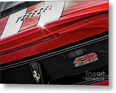 Metal Print featuring the photograph Ferrari 430 Scuderia by Brad Allen Fine Art