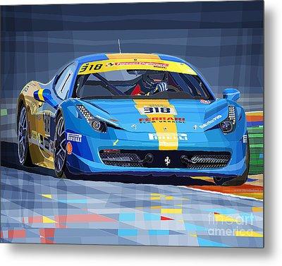 Ferrari 458 Challenge Team Ukraine 2012 Variant Metal Print