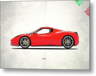 Ferrari 458 Italia Metal Print by Mark Rogan