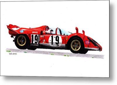 Ferrari 512s Mario Andretti 1970 Metal Print by Ugo Capeto