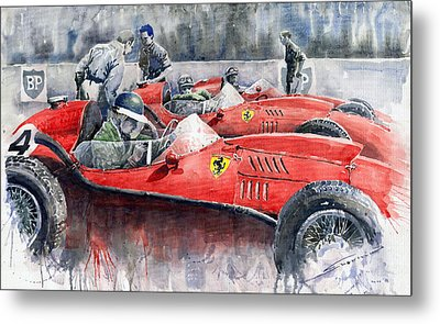 Ferrari Dino 246 F1 1958 Mike Hawthorn French Gp  Metal Print
