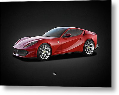 Ferrari F12 Metal Print by Mark Rogan