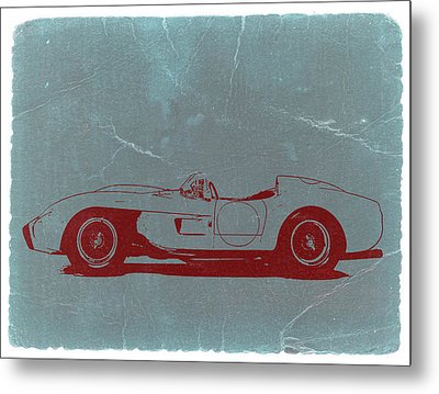Ferrari Testa Rosa Metal Print by Naxart Studio