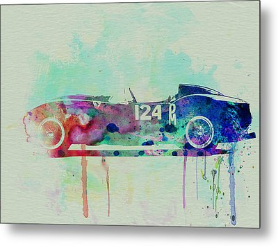 Ferrari Testa Rossa Watercolor 2 Metal Print