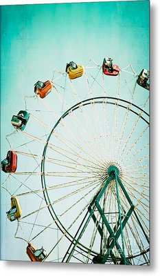 Ferris Wheel 2 Metal Print by Kim Fearheiley