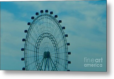 Ferris Wheel Fun Metal Print