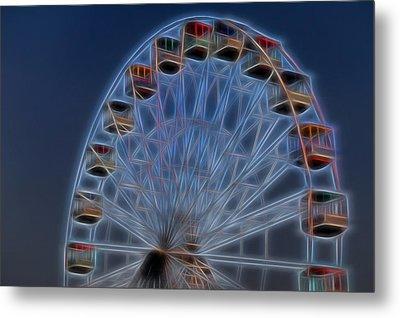 Ferris Wheel Glow Metal Print by Terry DeLuco