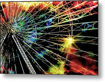 Ferris Wheel, Grand Roue Metal Print