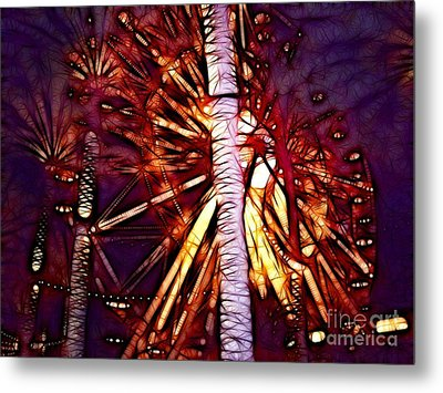 Metal Print featuring the photograph Ferris Wheel  by Mariola Bitner