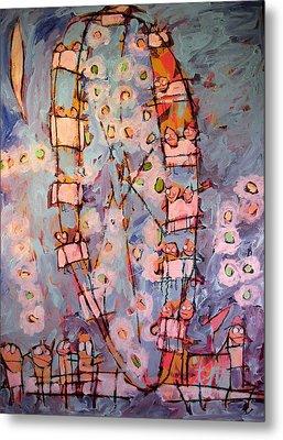 Ferris Wheel Of Life Sold Metal Print by Charlie Spear