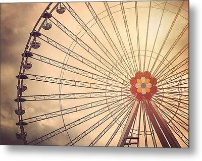 Ferris Wheel Prater Park Vienna Metal Print by Carol Japp