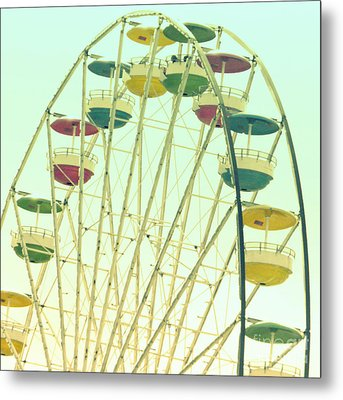 Metal Print featuring the digital art Ferris Wheel by Valerie Reeves
