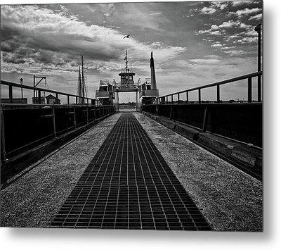 Ferry Boat Metal Print by Bob Orsillo