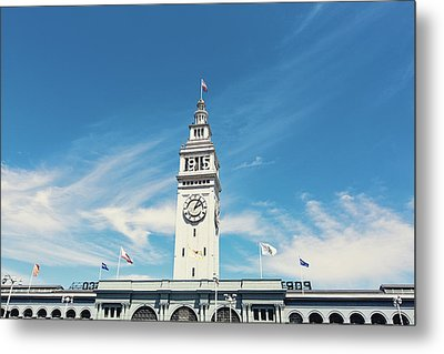 Metal Print featuring the photograph Ferry Building San Francisco 1915 - California Photography by Melanie Alexandra Price