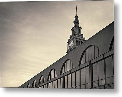 Metal Print featuring the photograph Ferry Building San Francisco I Toned by David Gordon