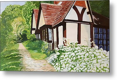 Ferry Cottage Metal Print by Joanne Perkins