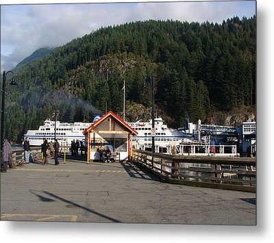 Metal Print featuring the painting Ferry Landed At Horseshoe Bay by Rod Jellison