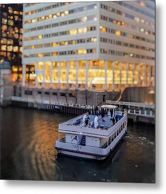 Metal Print featuring the photograph Ferry Ride by Ron Dubin