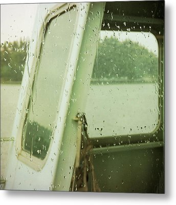 Metal Print featuring the photograph Ferry Windows by Sally Banfill